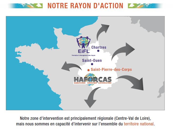 Rayon d'action HAFORCAS Formation