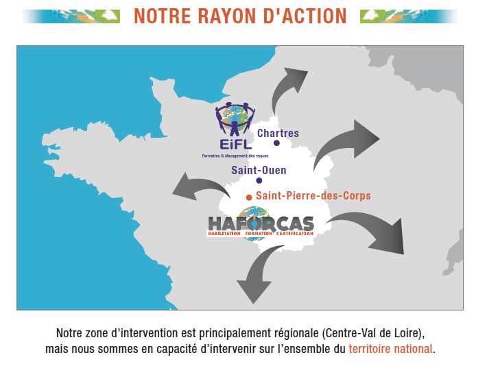 Rayon d'action HAFORCAS Formation